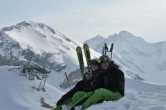 Skifahren Skilehrer